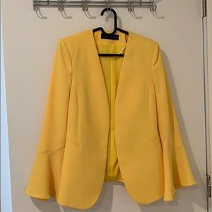 Vibrant yellow blazer - ZARA